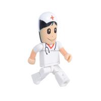 Plastic white nurse 8G usb meomry stick