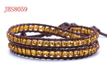 Sunshine fashion jewelry yellow crystal double-layer bracelets