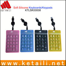 2015 New High Quality China Wholesale Silicone Keyboard, Protective Silicon Bluetooth Keyboard, Different Design Keyboard Case