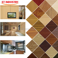 E0 HIGH GROSS calcium silicate board composite uv covering decorative kitchen wooden wall panels