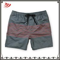 2016 wholesale spandex nylon/cotton surf shorts with elastic waist band drawstring