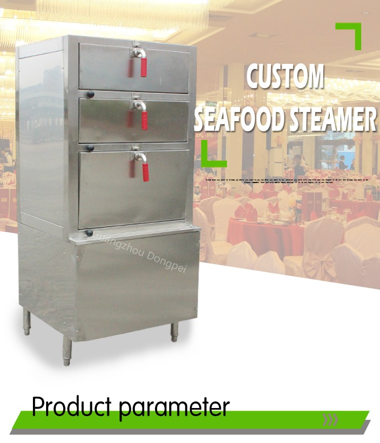 Seafood Restaurant Equipment Commercial Kitchen Steamer Seafood ...