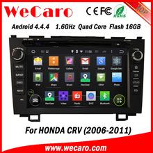 "Wecaro android 4.4.4 car gps navigation Wholesales 8"" for crv audio mirror link 2006 2011"