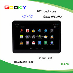 3G 10inch MTK6572 Dual Core 4.4 Android Tablet Pc With Sim Card Slot 16GB Storage