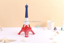 Metal Crafts Colorful Paris Eiffel Tower Figurine Statue Vintage Model