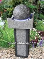 ball fountain garden water feature
