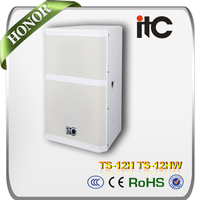 "ITC TS-12H Conference Room Sound System 350W 8 ohm 12 inch and 1.5"" 2.0 Speaker Box"