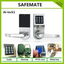 2015 New Design Keypad door Lock Safety lock system with 4 kind access method