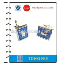 Fashion Cufflink with rectangle and blue design
