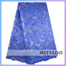 Mitaloo Wholesale Fashion fabric Organza Lace Sequins and Handcut Fabric MOG0202