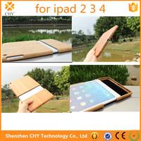 Wholesale China Handmade Natural Wood Wooden Hard Walnut Bamboo Carving Case Cover For ipad air 2 3 4