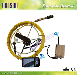 Witson 30m fiberglass cable wireless sewer inspection camera support iPad/iPhone/Andoid device