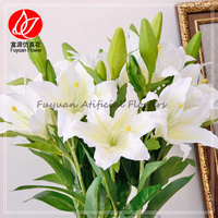 150340 factory wholesale handmade fabric flower names of flowers used for decoration lily