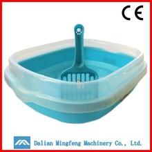 High quality pet products square plastic toilet box for cat