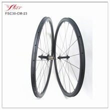 Compatible 23mm tyres tubeless bicycle 30mm carbon clincher wheels, ruote carbonio light
