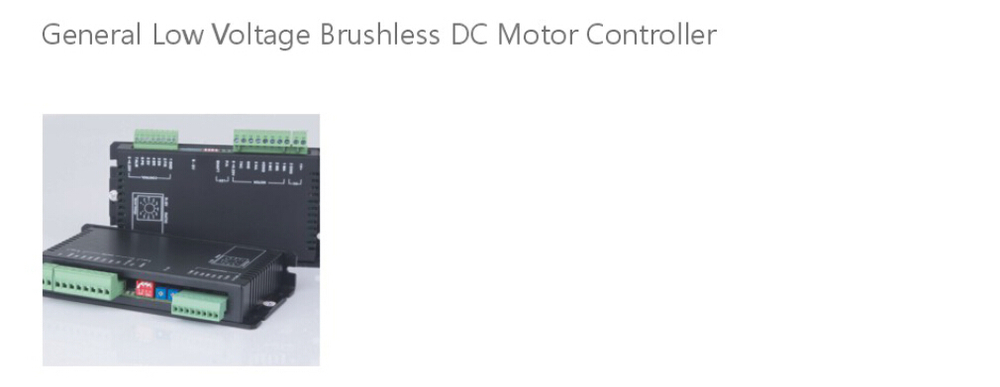 General Low Voltage Brushless Dc Motor Controller From