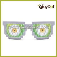 Custom promotional pinhole pixel sun glasses with logo lens