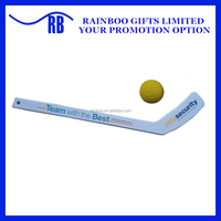 Cheap logo printed promotional Plastic Mini hockey stick for kid