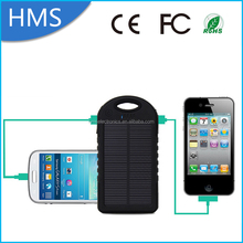 Newest high quality 5000mAh solar power bank