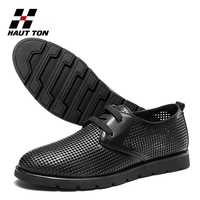 Foreign trade genuine leather men shoes hot fashion mesh shoes