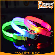 New!! Fashion 2015 new design rechargeable led dog collar sport pet collar