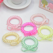 2015 new beautiful hot sale plastic spiral phone hair band