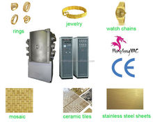 PVD Coatings Thin Film Coating Systems Factory/decorative gold color machinery for stainless steel sheets