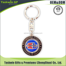 Fill in soft enamel coin metal keyring Custom metal keychain for promotional activities