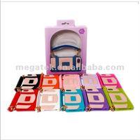 Cell phone case Handbag silicone cover case for iphone 5 5s, for iphone case handbag ,for iphone 5 case silicone