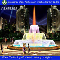 Outdoor landscaping rounded shape fountain project