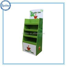 floor standing display units for tea, promotional cardboard floor display stand
