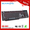Compact 3 Color LEDL uminous Tri-color Gaming Keyboard 104-Key