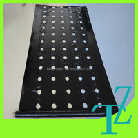agricultural PE plastic black mulch film with holes for strawberry planting