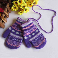 wholesale high quality colorful winter warm kids gardening gloves
