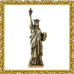 Cheap famous garden outdoor home decoration resin statue of liberty sculpture for sale