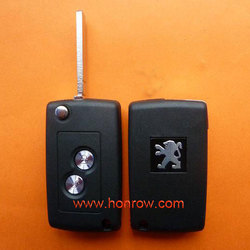 High Quality&Best Price Peugoet 2 button flip remote key blank with VA2-307 key blade/vw remote key cover 3 buttons