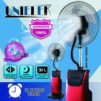 Indoor cooling system pedestal mist fan 220v water air cooler floor standing water spray fan