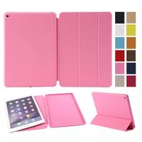 Hot Sales fashion PU smartcover case Good Quality Original design custom design case for Ipad 6 air
