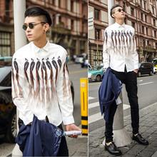 men's long sleeve shirt high-definition digital printing shirt