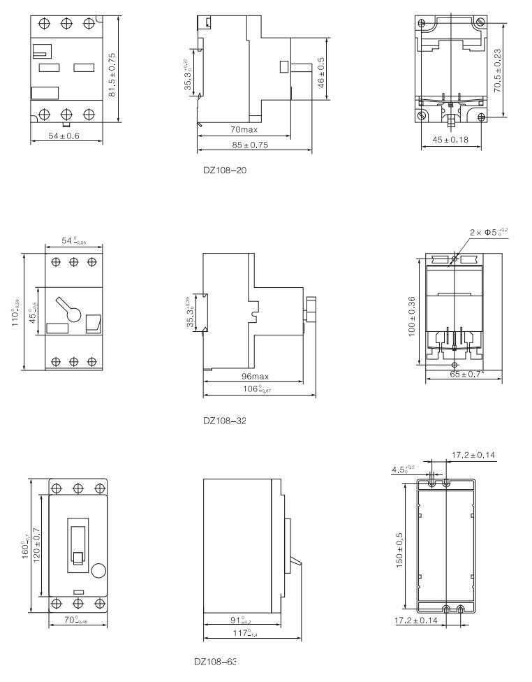 motor protective circuit breaker mpcb 3ve1 dz108
