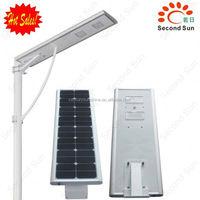 All in one solar led cobra head street light pole line