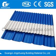 corrugated white plastic roof sheet