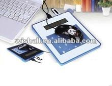 2012 multifunction usb hub mouse pad with led light