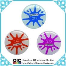 custom decorative clear Crystal Epoxy resin Sticker