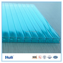 Huili PC HR0803 Polycarbonate Hollow Wall Protection Sheets Blue Color for Skylight, Greenhouse