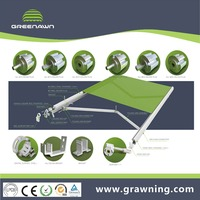 retractable awning parts components material