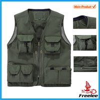 2015 Multi Pockets Summer Fly Fishing Vest for Men