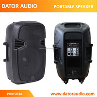 15 inch JB-L portable plastic molded powered speaker box,bluetooth speaker box,USB speaker