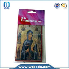 yellow color high quality custom made hanging fuzzy dice car air freshener in China factory
