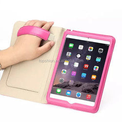 New Products 2016 For iPad Mini 4 Leather Case Handheld Flip Leather Stand Case